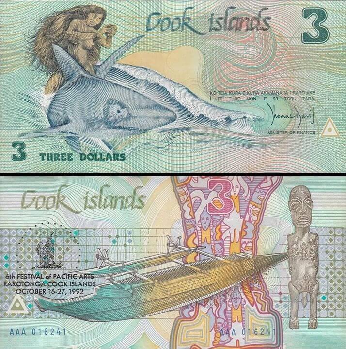 El dólar de las Islas Cook, de las más bonitas monedas del mundo